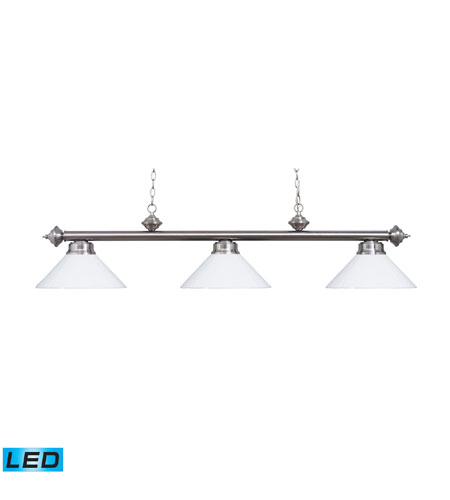 ELK Lighting Casual Traditions 3 Light Billiard/Island in Satin Nickel 167-SN-WH-LED photo