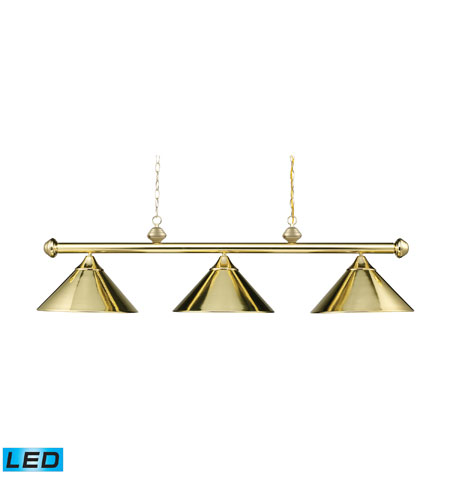 ELK Lighting Casual Traditions 3 Light Billiard/Island in Polished Brass 168-PB-LED photo