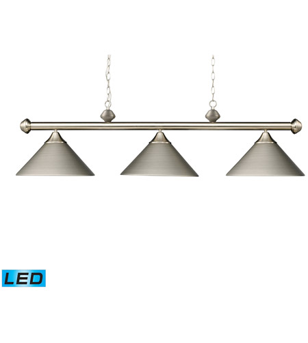 ELK 168-SN-LED Casual Traditions LED 51 inch Satin Nickel Billiard/Island Ceiling Light photo