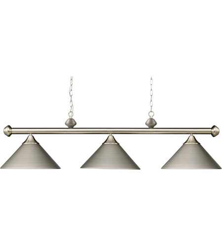 ELK 168-SN Casual Traditions 3 Light 51 inch Satin Nickel Billiard/Island Ceiling Light in Standard photo