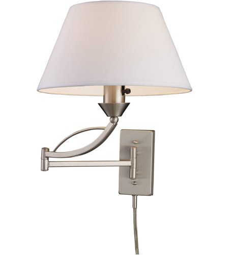 ELK 17016/1 Elysburg 24 inch 150 watt Satin Nickel Swingarm Wall Light in Standard photo