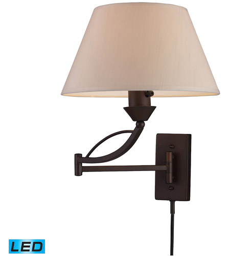 ELK 17026/1-LED Elysburg 24 inch 9.5 watt Aged Bronze Swing Arm Sconce Wall Light in LED photo