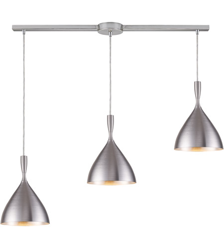 ELK 17042/3L-ALM Spun Aluminum 3 Light 36 inch Aluminum Pendant Ceiling Light photo