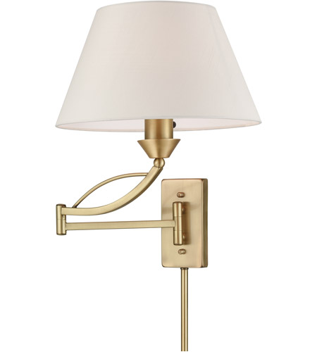 elk elysburg 1 light 12 inch french brass swingarm wall sconce wall light in