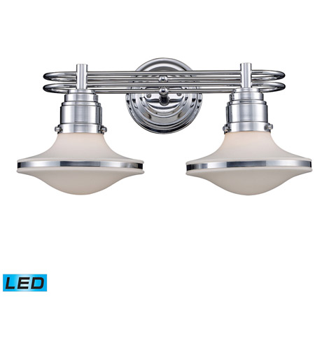 Elk 17051 2 led retrospectives led 18 inch polished chrome for Z gallerie bathroom lights
