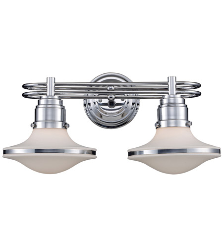 new style d3bb8 c88e8 Retrospectives 2 Light 18 inch Polished Chrome Vanity Light Wall Light in  Incandescent