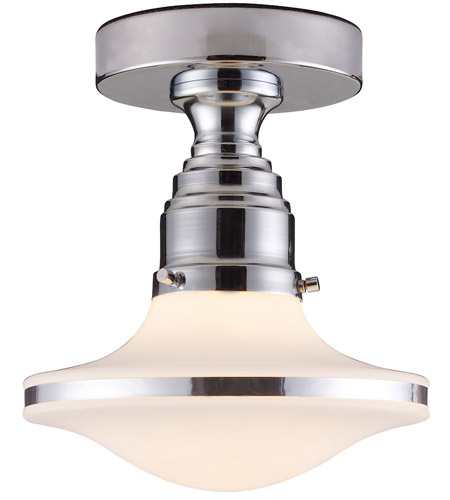 ELK Lighting Retrospectives 1 Light Semi-Flush Mount in Polished Chrome 17053/1 photo