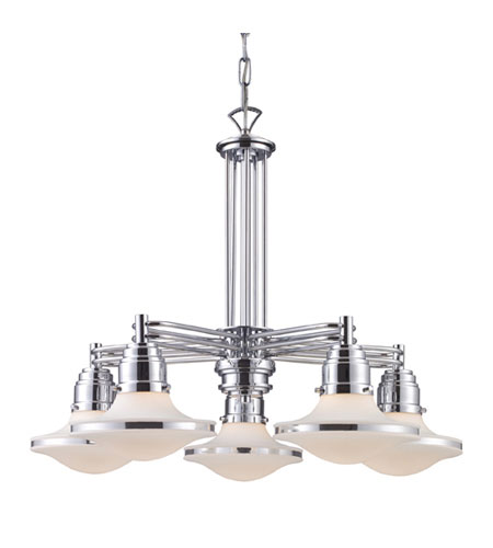 ELK Lighting Retrospectives 5 Light Chandelier in Polished Chrome 17056/5 photo