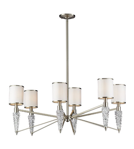 ELK Lighting Zanzabar 6 Light Chandelier in Satin Nickel 17127/6 photo