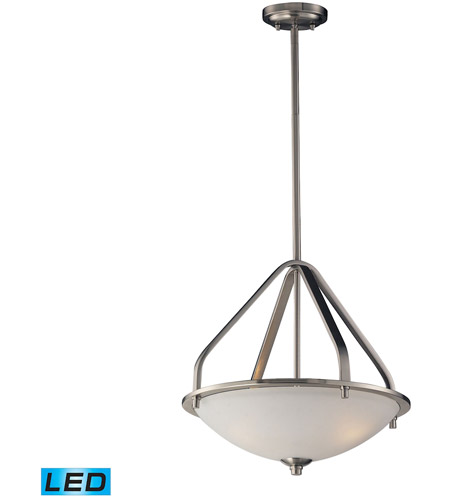 Elk 17143 3 Led Mayfield 17 Inch Brushed Nickel Pendant Ceiling Light