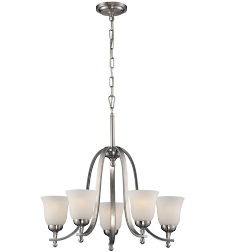 Mayfield 5 Light 24 Inch Brushed Nickel Chandelier Ceiling