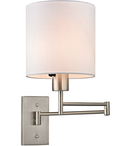 ELK 17150/1 Carson 1 Light 7 Inch Brushed Nickel Wall Sconce Wall Light In  Standard