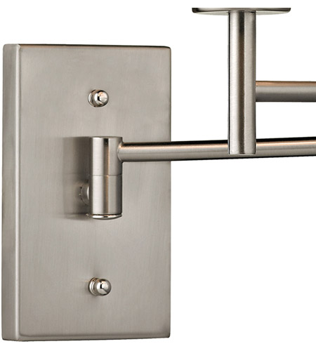 Carson 15 Inch 75 Watt Brushed Nickel Swing Arm Sconce