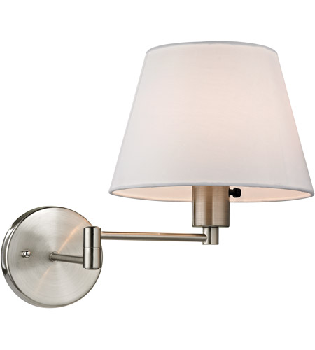 elk avenal 1 light 9 inch brushed nickel wall sconce wall light in