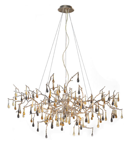 ELK Lighting Bijou 8 Light Chandelier in Silver Leaf 1722/8 photo