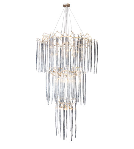 ELK Lighting Cascadia 29 Light Chandelier in Silver Leaf 1746/29 photo
