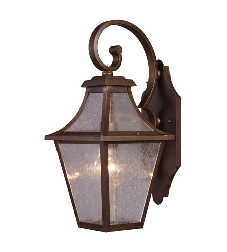 ELK Lighting Washington Avenue 1 Light Outdoor Sconce in Coffee Bronze 18007/1 photo