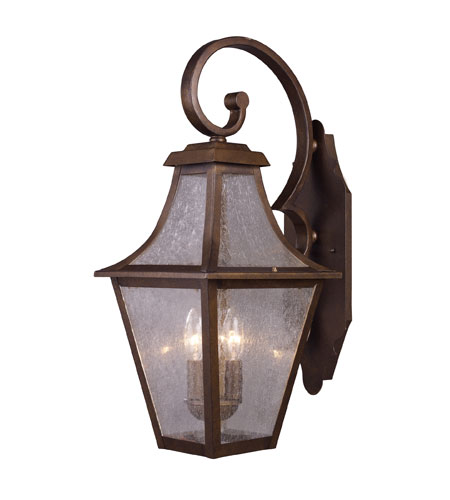 ELK Lighting Washington Avenue 3 Light Outdoor Sconce in Coffee Bronze 18008/3 photo