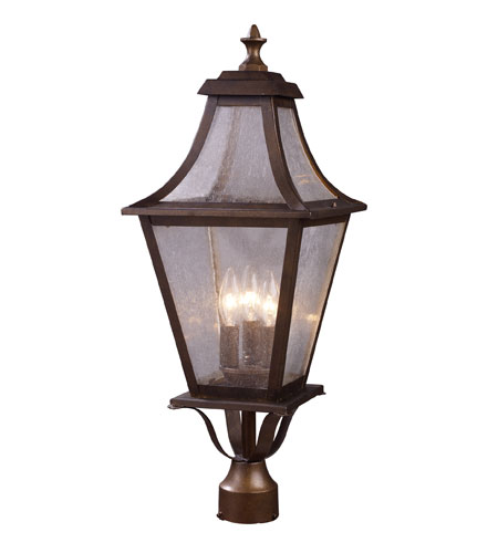 ELK Lighting Washington Avenue 3 Light Outdoor Post Light in Coffee Bronze 18010/3 photo