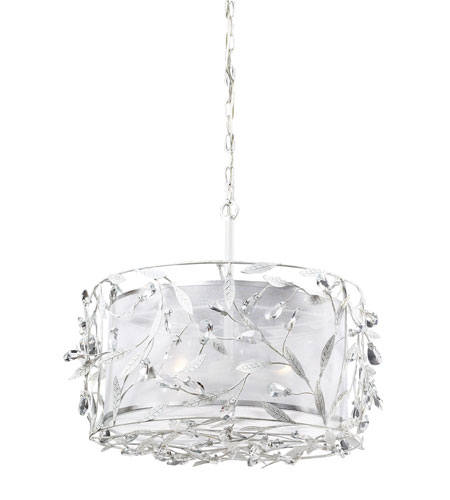 ELK Lighting Circeo 3 Light Pendant in Antique White 18122/3 photo