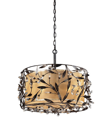 ELK Lighting Circeo 3 Light Pendant in Deep Rust 18132/3 photo