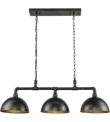 Elk Lighting Amazon: ELK 18256/3 Mulvaney 3 Light 49 Inch Black With Brushed