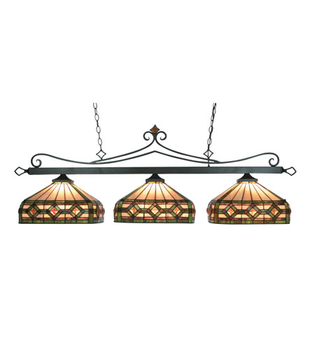 ELK Lighting Tiffany 3 Light Billiard/Island in Tiffany Bronze 190-11-TB-T8 photo