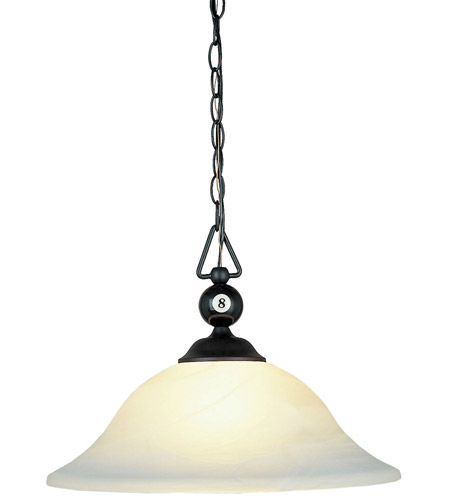 ELK Lighting Designer Classics 3 Light Billiard/Island in Matte Black 190-P-BK-G1 photo