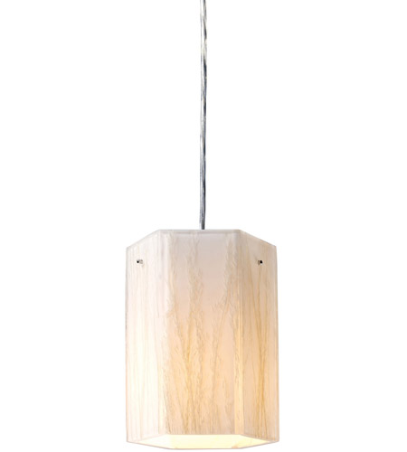 ELK 19031/1 Modern Organics 1 Light 6 inch Polished Chrome Pendant Ceiling Light in Incandescent, Standard photo