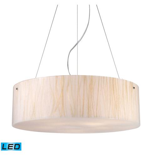 Elk 19033 5 Led Modern Organics 24 Inch Polished Chrome Pendant Ceiling Light
