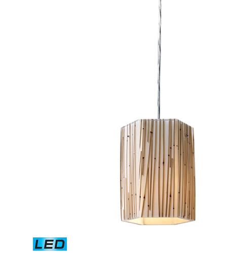 ELK Lighting Modern Organics 1 Light Pendant in Polished Chrome 19061/1-LED photo