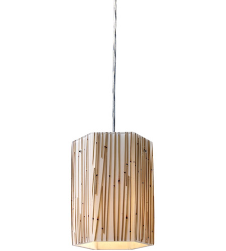 ELK Lighting Modern Organics 1 Light Pendant in Polished Chrome 19061/1 photo
