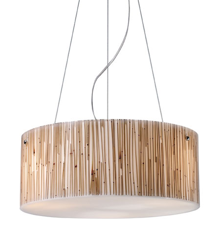 ELK Lighting Modern Organics 3 Light Pendant in Polished Chrome 19062/3 photo