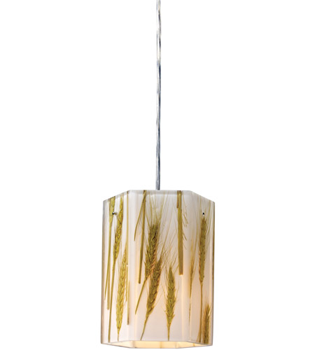 ELK Lighting Modern Organics 1 Light Pendant in Polished Chrome 19071/1 photo