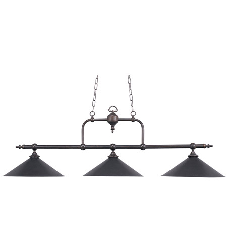Elk 191 Tb Designer Clics 3 Light 63 Inch Tiffany Bronze Billiard Island Ceiling In Standard