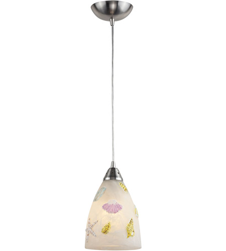 ELK 20000/1 Seashore 1 Light 7 inch Nickel Pendant Ceiling Light in Incandescent, Standard photo