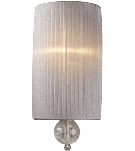 ELK 20005/1 Alexis 1 Light 7 inch Antique Silver Sconce Wall Light photo