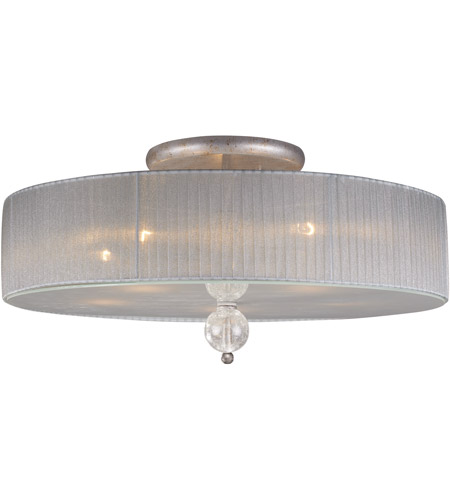 ELK Lighting Alexis 5 Light Semi-Flush Mount in Antique Silver 20006/5 photo