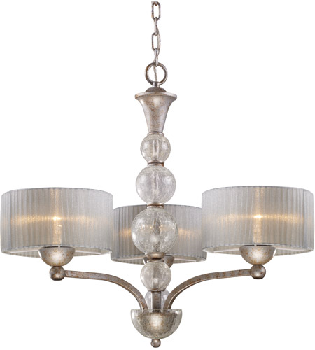 ELK Lighting Alexis 3 Light Chandelier in Antique Silver 20008/3 photo