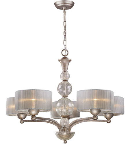 ELK 20009/5 Alexis 5 Light 32 inch Antique Silver Chandelier Ceiling Light photo