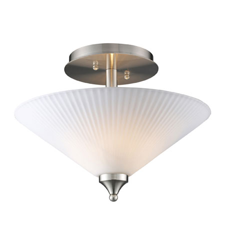 ELK Lighting Vega 2 Light Semi-Flush Mount in Nickel 20013/2 photo