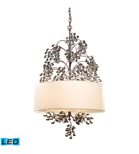 ELK Lighting Winterberry 4 Light Chandelier in Antique Darkwood 20059/4-LED photo