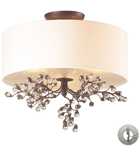 ELK 20089/3-LA Winterberry 3 Light 16 inch Antique Darkwood Semi-Flush Mount Ceiling Light in Recessed Adapter Kit photo