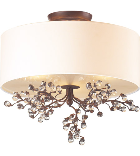 ELK 20089/3 Winterberry 3 Light 16 inch Antique Darkwood Semi Flush Mount Ceiling Light in Standard  photo