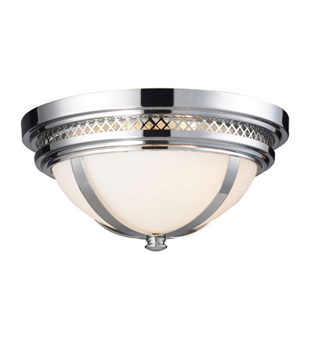 Elk lighting flushmount 2 light flush mount in polished chrome 20102 2
