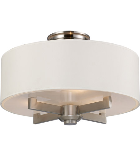 ELK Lighting Seven Springs 3 Light Semi-Flush Mount in Satin Nickel 20152/3 photo