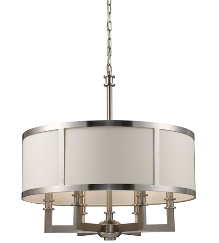 ELK 20154/6 Seven Springs 6 Light 22 inch Satin Nickel Chandelier Ceiling Light photo