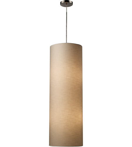 ELK Lighting Fabric Cylinders 4 Light Pendant in Satin Nickel 20160/4 photo