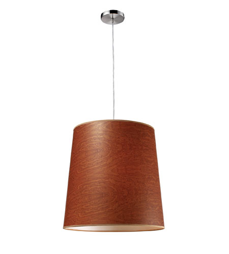 ELK Lighting Couture 1 Light Pendant in Polished Chrome 20161/1 photo