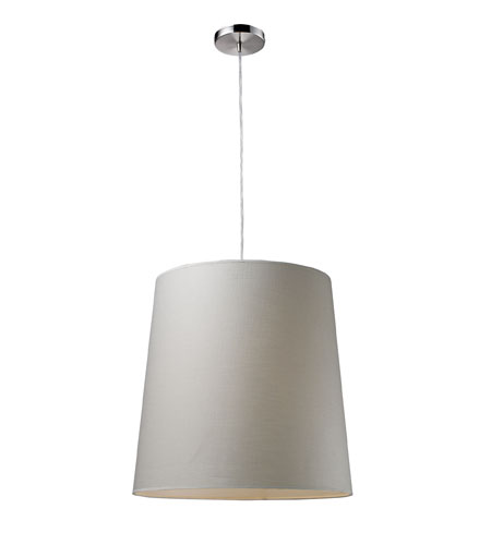 ELK Lighting Couture 1 Light Pendant in Polished Chrome 20166/1 photo